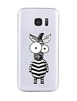 Недорогие -Кейс для Назначение SSamsung Galaxy S7 edge S7 Прозрачный С узором Задняя крышка Мультипликация Мягкий TPU для S7 edge S7 S6 edge plus S6