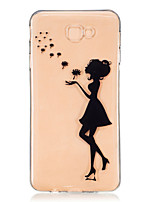 cheap -For Samsung Galaxy J7 Prime J5 Prime J710 J510 J5  J310 J3  TPU Material Girl  Pattern Painting Phone Case