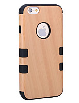 cheap -Case For Apple iPhone 8 iPhone 8 Plus Shockproof Dustproof Full Body Wood Grain Hard Wooden for iPhone 8 Plus iPhone 8 iPhone 7 Plus