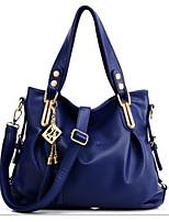 Women Bags All Seasons PU Shoulder Bag Rivet for Formal Office & Career Blue Black Blushing Pink Fuchsia
