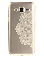 cheap -For Samsung Galaxy J5 J5(2016) J3 J3(2016) G530 Case Cover Half Flower Pattern IMD Process Painted TPU Material Phone Case