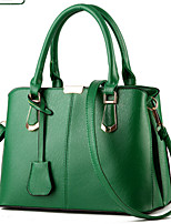 Women Bags All Seasons PU Tote Rivet for Formal Office & Career Black Silver Fuchsia Army Green Wine