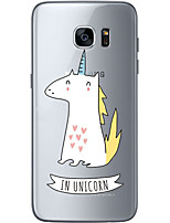 cheap -For Samsung Galaxy S6 Edge Plus S6 S7 Edge S7 Small unicorn Soft Material For Compatibility TPU