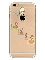 abordables -Para Ultrafina Diseños Funda Cubierta Trasera Funda Logo Playing With Apple Suave TPU para AppleiPhone 7 Plus iPhone 7 iPhone 6s Plus/6