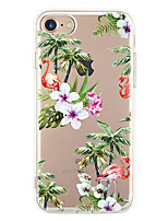 abordables -Pour Ultrafine Motif Coque Coque Arrière Coque Fleur Flexible PUT pour Apple iPhone 7 Plus iPhone 7 iPhone 6s Plus/6 Plus iPhone 6s/6