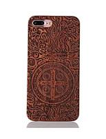 preiswerte -Für Stoßresistent Geprägt Muster Hülle Rückseitenabdeckung Hülle Zeichentrick Hart Holz für AppleiPhone 7 plus iPhone 7 iPhone 6s Plus/6