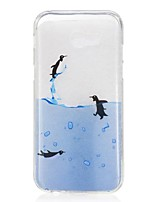 cheap -For Samsung Galaxy A5(2017) A3(2017) Case Cover Penguin Pattern High Permeability TPU Material IMD Craft Phone Case