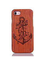 cheap -For Shockproof Embossed Pattern Case Back Cover Case Anchor Hard Pear Solid Wood for Apple iPhone 7 7 Plus 6s 6 Plus SE 5s 5