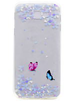 cheap -For Samsung Galaxy A7(2017) A5(2017) A3(2017) A510 A310 TPU Material Flower Butterfly Pattern Painted Phone Case