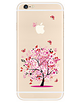 abordables -Coque Pour Apple iPhone X iPhone 8 Plus Coque iPhone 5 iPhone 6 iPhone 7 Motif Coque Arbre Flexible TPU pour iPhone X iPhone 8 Plus
