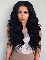 Cheap On Sale Body Wave Long Brazilian Human Virgin Hair Wholesale Glueless Full Lace Wig For Black Woman
