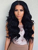 Cheap On Sale Body Wave Long Brazilian Human Virgin Hair Wholesale Glueless Full Lace Wig For Black Woman