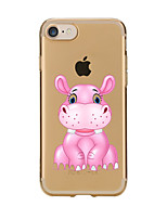 cheap -For Transparent Pattern Case Back Cover Case Cartoon An Ostrich Soft TPU for IPhone 7 7Plus iPhone 6s 6 Plus iPhone 6s 6 iPhone 5s 5 5E 5C