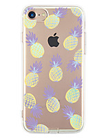 baratos -Para iPhone X iPhone 8 iPhone 7 iPhone 7 Plus iPhone 6 Case Tampa Ultra-Fina Estampada Capa Traseira Capinha Fruta Macia PUT para Apple