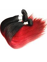 Недорогие -Бразильский Реми волос Пряди натуральных волос Реми Прямые Натуральные волосы Реми