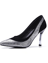 Women's Shoes Synthetic Spring Fall Comfort Heels Stiletto Heel Pointed Toe Split Joint For Outdoor Office & Career Silver Gold