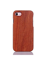 For Shockproof Embossed Pattern Case Back Cover Case Solid Color Hard Pear Solid Wood for Apple iPhone 7 7 Plus 6s 6 Plus SE 5s 5