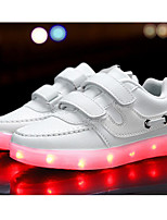 cheap -Girls' Shoes Synthetic Spring Summer Light Up Shoes Comfort Sneakers Buckle LED Hook & Loop for Casual Outdoor White Black Blue Pink