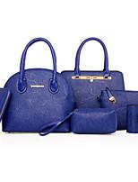 Donna Sacchetti Per tutte le stagioni PU (Poliuretano) sacchetto regola con Ricamo Fiore (i) Cerniera per Formale Blu Oro Nero Rosso Rosa
