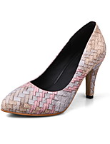 Women's Shoes PU Spring Fall Comfort Heels Stiletto Heel Pointed Toe For Casual Office & Career Blushing Pink Blue Brown
