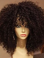 cheap -New Style 100% Brazilian Human Hair Kinky Curly Lace Front Wig With Bang Human Hair  Natural Hair Lace Front Wigs For Woman With Baby Hair On Sale