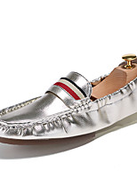 Men's Shoes Patent Leather Summer Fall Formal Shoes Loafers & Slip-Ons Lace-up For Casual Party & Evening Silver Black White Gold