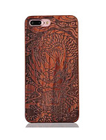 For Shockproof Embossed Pattern Case Back Cover Case Dragon Totem Rosewood and PC Combination for Apple iPhone 7 7 Plus 6s 6 Plus SE 5s 5