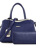 Women Bags All Seasons PU Bag Set Flower(s) Zipper for Formal Office & Career Blue White Black Red
