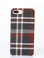 Für Muster Hülle Rückseitenabdeckung Hülle Geometrische Muster Hart Textil für AppleiPhone 7 plus iPhone 7 iPhone 6s Plus/6 Plus iPhone