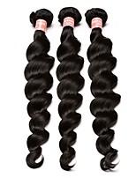Недорогие -3 шт. Натуральные черные необработанные бразильские человеческие волосы сплетают наращивание волос