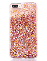 billige -Til iPhone 8 iPhone 8 Plus iPhone 7 iPhone 7 Plus iPhone 6 Etuier Flydende væske Bagcover Etui Glitterskin Hårdt PC for Apple iPhone 8