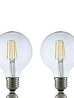 E26/E27 Ampoules à Filament LED G80 4 COB 400 lm Blanc Chaud 2700 K AC 100-240 V