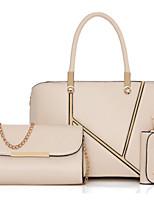 Women Bags All Seasons PU Bag Set Flower(s) Zipper for Formal Office & Career Blue Champagne Black Red