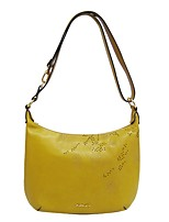 Women Bags All Seasons Cowhide Shoulder Bag for Event/Party Casual Yellow