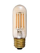 E26 Ampoules à Filament LED T 4 COB 300 lm Ambre 2200 K Intensité Réglable Décorative AC 110-130 V