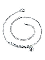 Women's Anklet/Bracelet Silver Plated Gold Plated Simple Lovely Round Jewelry For Party Casual