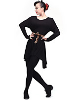 cheap -Latin Dance Dresses Women's Performance Modal Pleats Long Sleeve Natural Dresses
