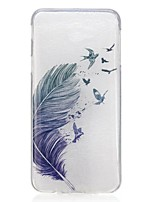 cheap -For Samsung Galaxy J5 Prime J7 Prime J3 Pro Case Cover Feathers Pattern High Permeability TPU Material IMD Craft Phone Case
