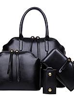 Women Bags All Seasons PU Bag Set Zipper for Formal Office & Career Blue Black Brown Wine