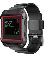 Недорогие -ПК прочная защитная рама с силиконовым ремешком полосы для Fitbit полыхают смарт-часы