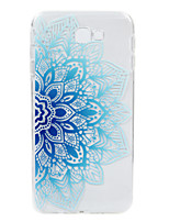 cheap -For Samsung Galaxy J7Prime J2Prime  phone Case Blue Flower Lace Embossed Pattern TPU Material High Penetration
