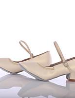 Da donna Danza moderna Finta pelle Sneaker Per interni Tacco su misura Bianco Personalizzabile