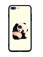 abordables -Funda Para Apple Diseños Cubierta Trasera Animal Oso Panda Dura Fibra acrílica para iPhone 7 Plus iPhone 7 iPhone 6s Plus iPhone 6 Plus