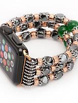 Недорогие -Jade агат жемчуг бисер ремешок ручной работы ювелирные изделия для яблока часы iwatch 38 мм 42 мм