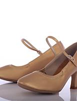 Women's Modern Leatherette Heel Outdoor Customized Heel Brown Customizable