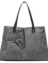 cheap -Women Bags Canvas Shoulder Bag Zipper for Casual Outdoor Winter Fall Coffee Gray White Blue