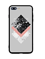 baratos -Para iPhone X iPhone 8 Case Tampa Estampada Capa Traseira Capinha Estampa Geométrica Rígida Acrílico para Apple iPhone X iPhone 8 Plus