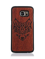cheap -For Samsung Galaxy S7 S7edge Case Cover Wolf Head Pattern Case Back Cover Case Hard Wooden and PC Material Combination