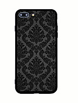 baratos -Para iPhone X iPhone 8 Case Tampa Estampada Capa Traseira Capinha Azulejo Rígida Acrílico para Apple iPhone X iPhone 8 Plus iPhone 8
