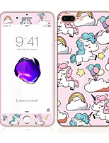 For Apple iPhone 7 Plus 5.5 Tempered Glass with Soft Edge Full Screen Coverage Front and Back Screen Protector Unicorn Pattern